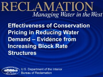 Effectiveness of Conservation Pricing in Reducing Water Demand ...