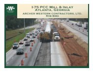 Interstate 75 - GDOT's Experience Replacing Asphalt with Concrete