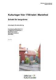Stiftelsen Kulturmiljövård Rapport 2012:38. - KMMD