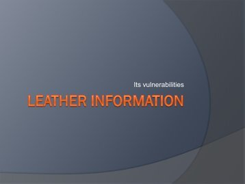 View PowerPoint presentation as pdf - SLTC. Society of Leather ...