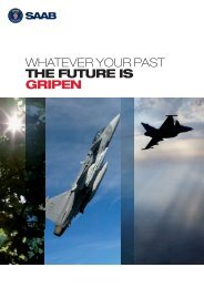 Whatever your past the future is Gripen - Saab