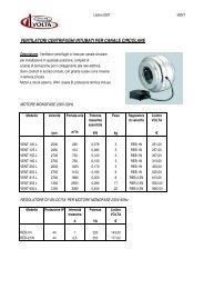 ventilatori centrifughi intubati per canale circolare - Officine Volta SpA