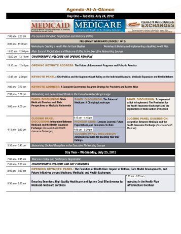 Agenda At A Glance - World Congress