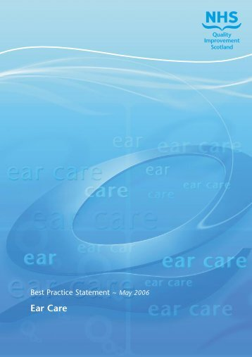 Best practice statement : ear care