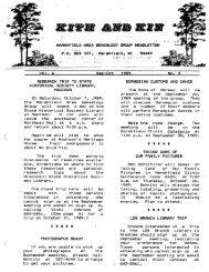September - October 1989 - Marshfield Area Genealogy Group