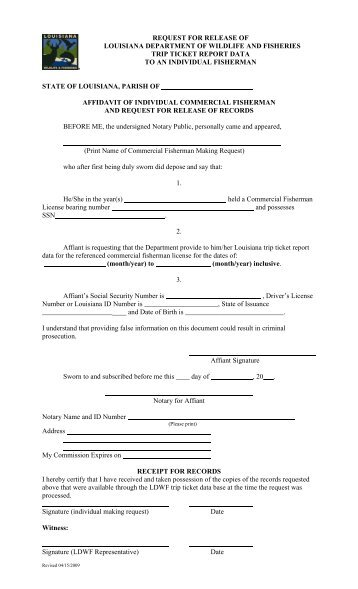 Tax Forms Request PLEASE PRINT OR TYPE. - Louisiana ...
