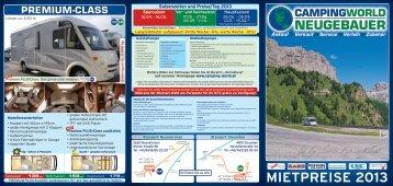 Mietprospekt 2013 - Campingworld Neugebauer