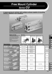 Series CU Free Mount Cylinder - SMC ETech