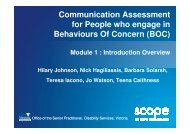 Communication Assessment for People who engage in ... - Scope