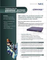 UNIVERGE SV7000 MPS Data Sheet