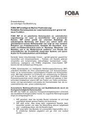 Pressemitteilung: FOBA IMP mit neuer Funktion - FOBA Laser ...