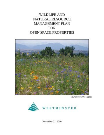 Final Wildlife and Natural Resource Management Plan - City of ...