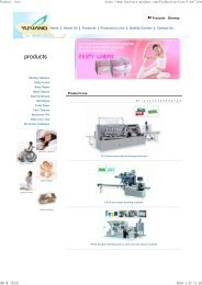 Product line - Sanitary products