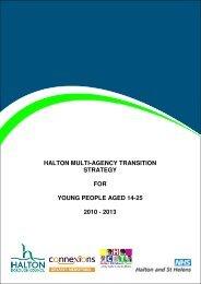 Multi Agency Transition Strategy 2010 - Halton Strategic Partnership