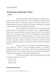 Rozwój rynku walutowego w Polsce - Wydział Zarządzania i Ekonomii