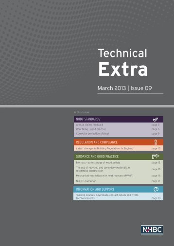 Download Technical Extra 09 pdf - NHBC Home