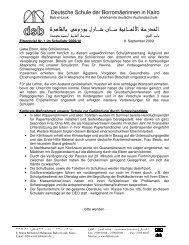 Elternbrief Nr 1 0910 - DSB | Kairo