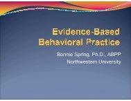 Bonnie Spring, PhD, ABPP - Society of Behavioral Medicine