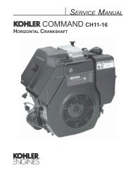 COMMAND CH11-16 - Kohler Engines