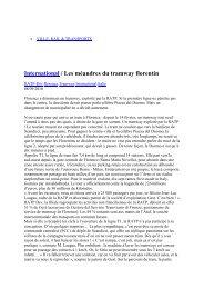 International / Les méandres du tramway florentin - RATP