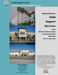 Deputy Director, Child Support Services - San Bernardino County