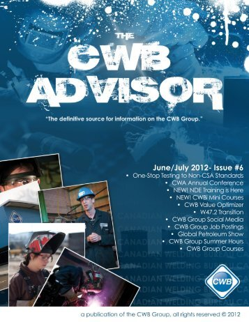 June/July 2012- Issue #6 - CWB Group