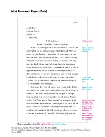 Sample Mla Formatted Research PaperPdf  Phsgradproject