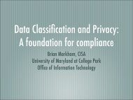 Data Classification and Privacy - Office of Information Technology ...