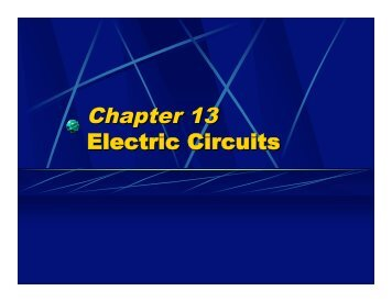 Chapter 13 Electric Circuits - Oswego