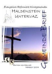 GB Uv 2004 - Reformierte Kirchgemeinde Untervaz