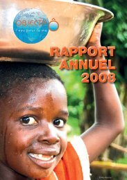 RAPPORT ANNUEL 2008 © Alao Kasongo - Proximedia