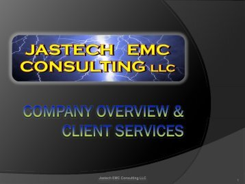 Jastech EMC Consulting Overview and Client Services PDF