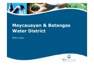 Meycauayan & Batangas Water District - Danish Water Forum