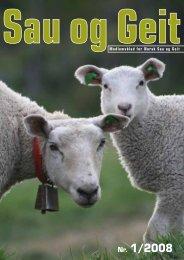 Nr. 1/2008 - Norsk Sau og Geit