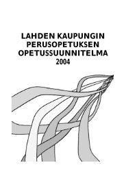 Perusopetuksen opetussuunnitelma - Lahti