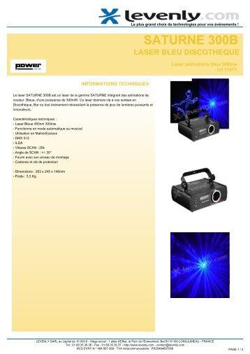 Fiche produit POWER LIGHTING - SATURNE 300B ... - Levenly