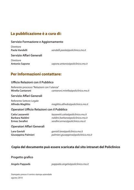 1 semestre 2010 - Policlinico di Modena