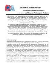 Educatief medewerker - KSJ - KSA - Vksj