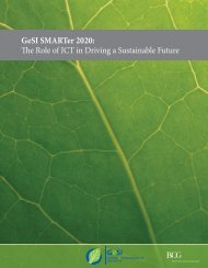 GeSI SMARTer 2020: The Role of ICT in Driving a Sustainable Future