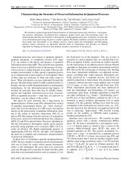 Characterizing the Structure of Preserved Information in ... - EPIQ