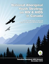 National Aboriginal Youth Strategy on HIV & AIDS in Canada