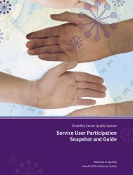Service User Participation Snapshot and Guide