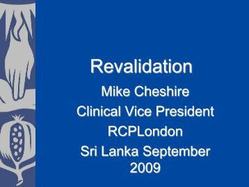 Revalidation September 2009 Sri Lanka
