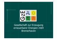 Gesellschaft zur Erzeugung erneuerbarer Energien mbH ... - wab.biz