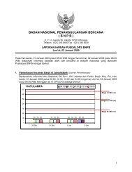 Laporan Harian 2 Januari 2009 - BNPB