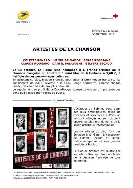 ARTISTES DE LA CHANSON