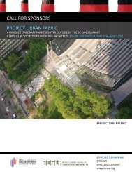 Project Urban Fabric Sponsor Kit - April 4, 2014