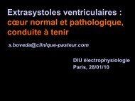coeur normal et pathologique, conduite à tenir