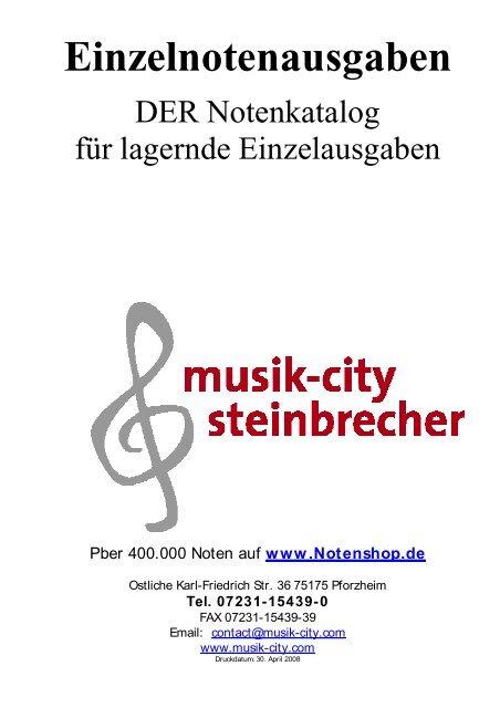 Einzelnotenausgaben Musik City Steinbrecher