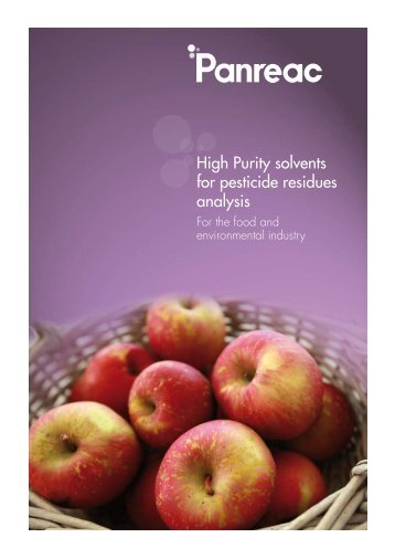 High Purity solvents for pesticide residues analysis